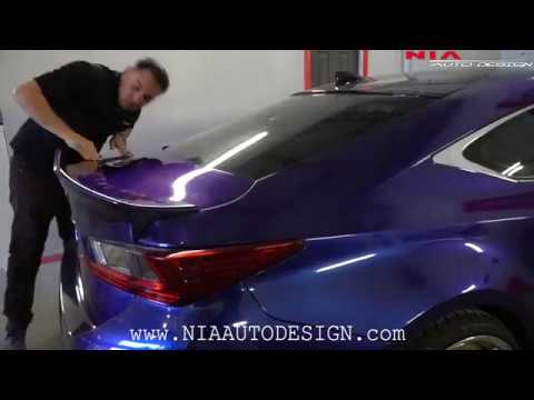 How to install Lexus RC rear duck tail spoiler. DIY RC350 RC200T RC300