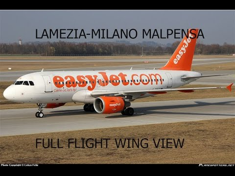 FSX HD A319 Lamezia To Milan Malpensa Full Flight Passenger Wing View