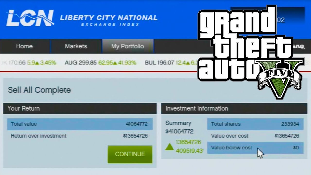gta 5 port heist stock market