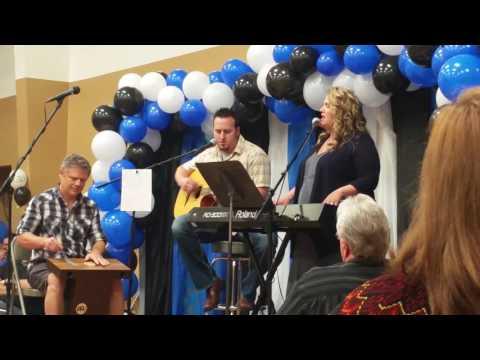 Aaron Whetstone and Rachel Mosher celebrate Pastor Chuck