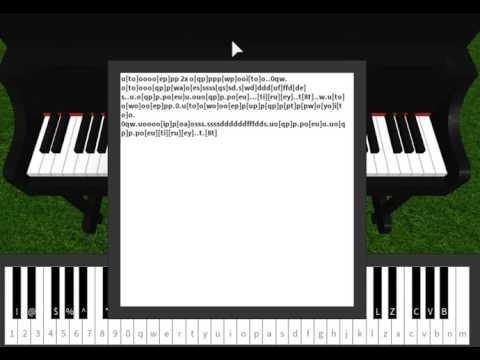 Hallelujah On Roblox Piano Sheet In Desc Youtube