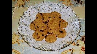Диетическая выпечка.Овсяное печенье  с изюмом (без муки и масла).