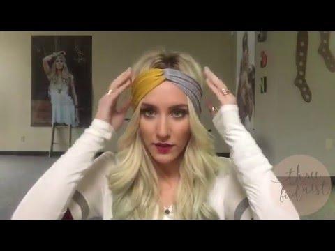 How To Wear A Turband Headband - 3 Ways to wear a twisted turban boho  headband hairstyles e3762206095