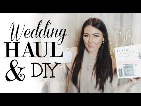 WEDDING HAUL & DIY | HOW TO PLAN A WEDDING