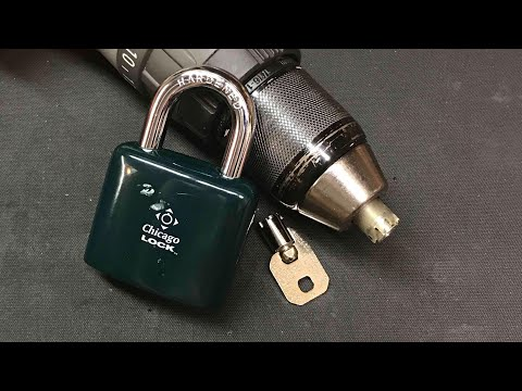 [538] ACE II Tubular Padlock Drilled Open