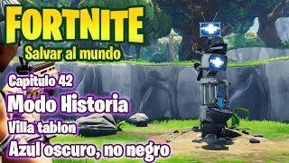 FORTNITE SALVAR EL MUNDO #42 VILLATABLON - AZUL OSCURO, NO NEGRO - GAMEPLAY EN ESPAÑOL