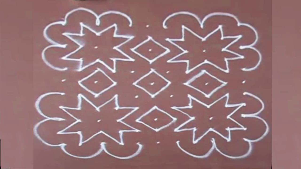 Rangoli Design 12 With Dots For Ganpati Easy To Draw And Beautiful By Youtube