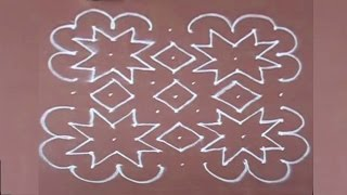 Rangoli Design-12 with dots for diwali easy to draw and beautiful