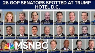 Republicans Didn't Go To Trump Hotels Until He Became POTUS | The Beat With Ari Melber | MSNBC