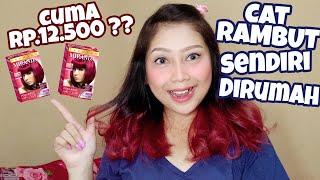 CAT RAMBUT SENDIRI DIRUMAH ?? CUMA Rp.12.500!!   Miranda Hair Color (Violet Red)   Syoretta