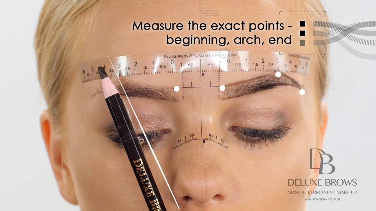 Deluxe Brows Microblading Tutorial Sticky Ruler Youtube