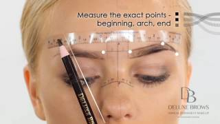 Deluxe Brows® Microblading Tutorial Sticky Ruler