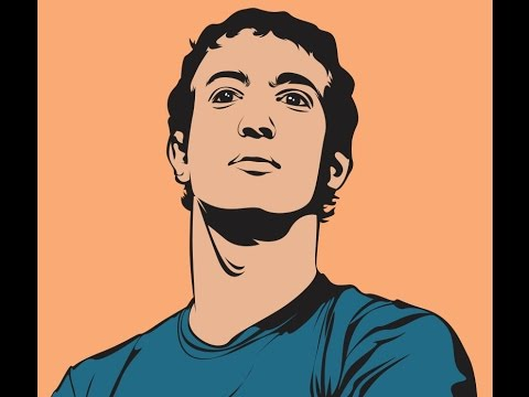 Line Art Portrait : Tutorial how to draw line art coreldraw youtube