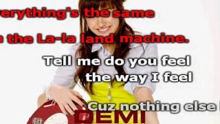 Demi Lovato La La Land Karaoke (HD)