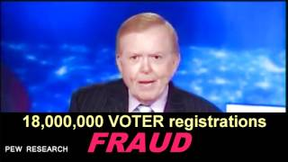 Voter Fraud - 18 MILLION Ineligible & Dead on American Voter Rolls