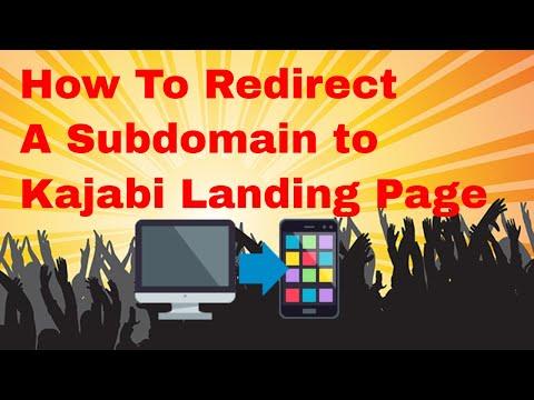 How to create URL Redirect to Kajabi Landing Page
