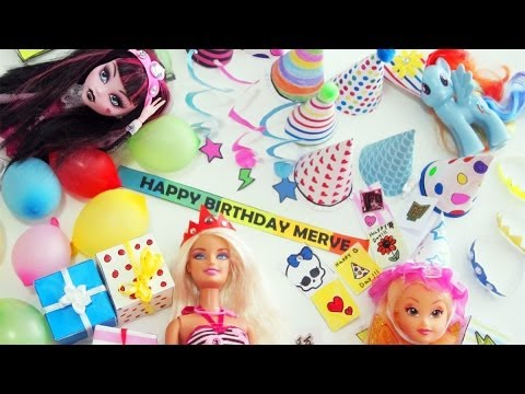 Make Doll Party Stuff - Doll Crafts - simplekidscrafts - simplekidscrafts
