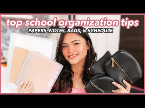 ORGANIZATION TIPS + HACKS FOR SCHOOL: Notes, Bag, Papers, Schedule (Back to School Philippines)