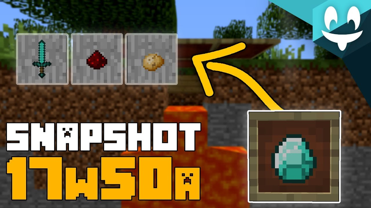 Minecraft 1.13 Snapshot 17w50a - ITEM FRAMES - YouTube