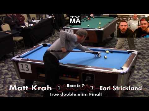 Earl Strickland vs Matt Krah - DBBC Pro Event Final 2017 w/ post game interview!