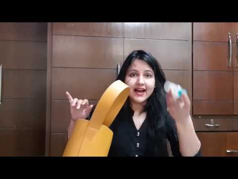 What's In My Bag / Neha's kitchen villa / travel packing tips / hand bag organization ideas