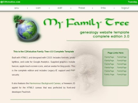 My Family Tree HTML5 Genealogy Website Template 3.0