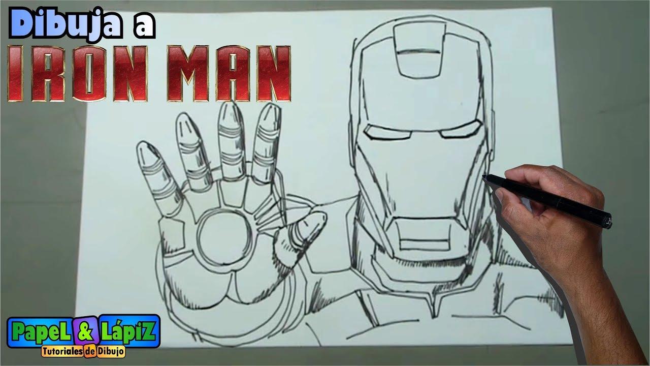 Aprende A Dibujar A Ironman Paso A Paso Youtube