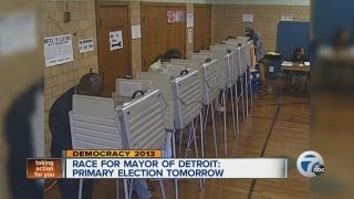 Detroit mayoral race, candidates comment before primary election