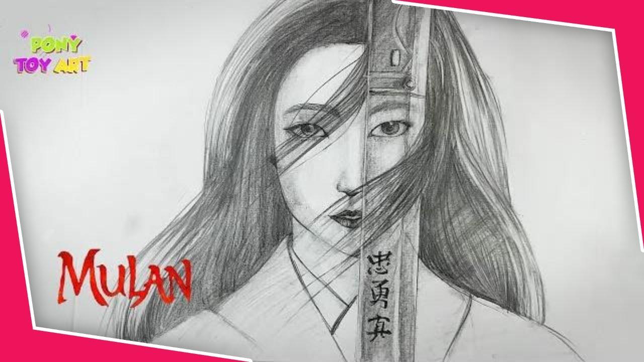 Mulan Art Drawing Hand Drawing Graphite Pencil Art Youtube