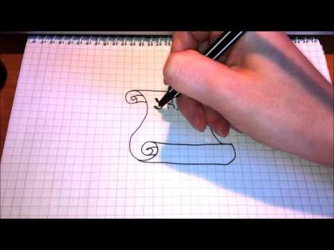 Как рисовать свиток