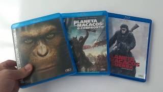 Blu Ray Trilogia Planeta dos Macacos      #planetadosmacacos #macacos #bluray #trilogia #jamesfranco