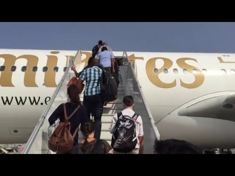 Emirates A340-300 Business Class Takeoff and Landing, Great Engine Sound, Dubai to Lusaka to Harare