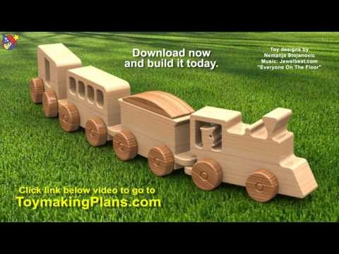 Wood Toy Plans – Happy-Go-Lucky Toy Train