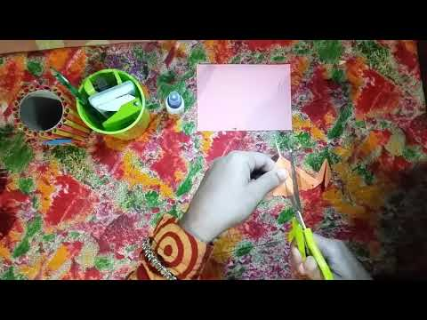 HOW TO MAKE A PAPER CRAFT ORCHID FLOWER DIY CRAFT PROJECT