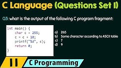 C Programming (Important Questions Set 1)