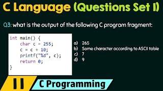C Programming (Important Questions Set -1)