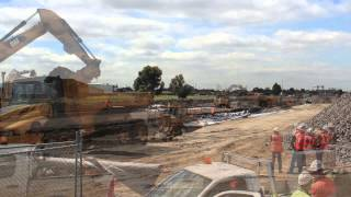 Regional Rail Link - Track works on the Ballarat line near Deer Park