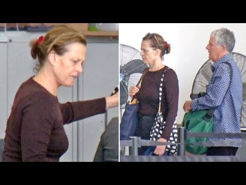 Sigourney Weaver Is Barely Recognizable With NO MAKEUP Leaving L.A. With Hubby Jim Simpson
