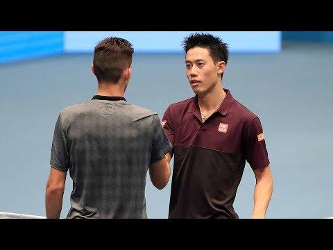 Highlights: Nishikori Ousts Thiem, Anderson Reaches SF In Vienna 2018