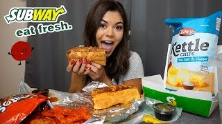 MEATBALL SUB SUBWAY MUKBANG