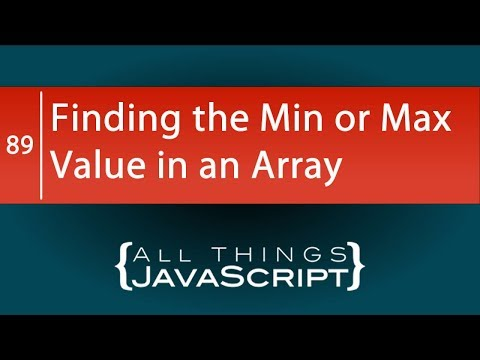 JavaScript Tip: Finding The Minimum Or Maximum Value In An Array