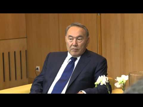 At UNESCO, Kazakhstan's President Nazarbayev calls for intercultural dialogue to counter extremism