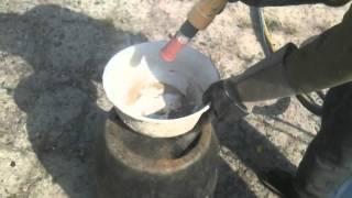 Очистка поверхности с застывшим цементом