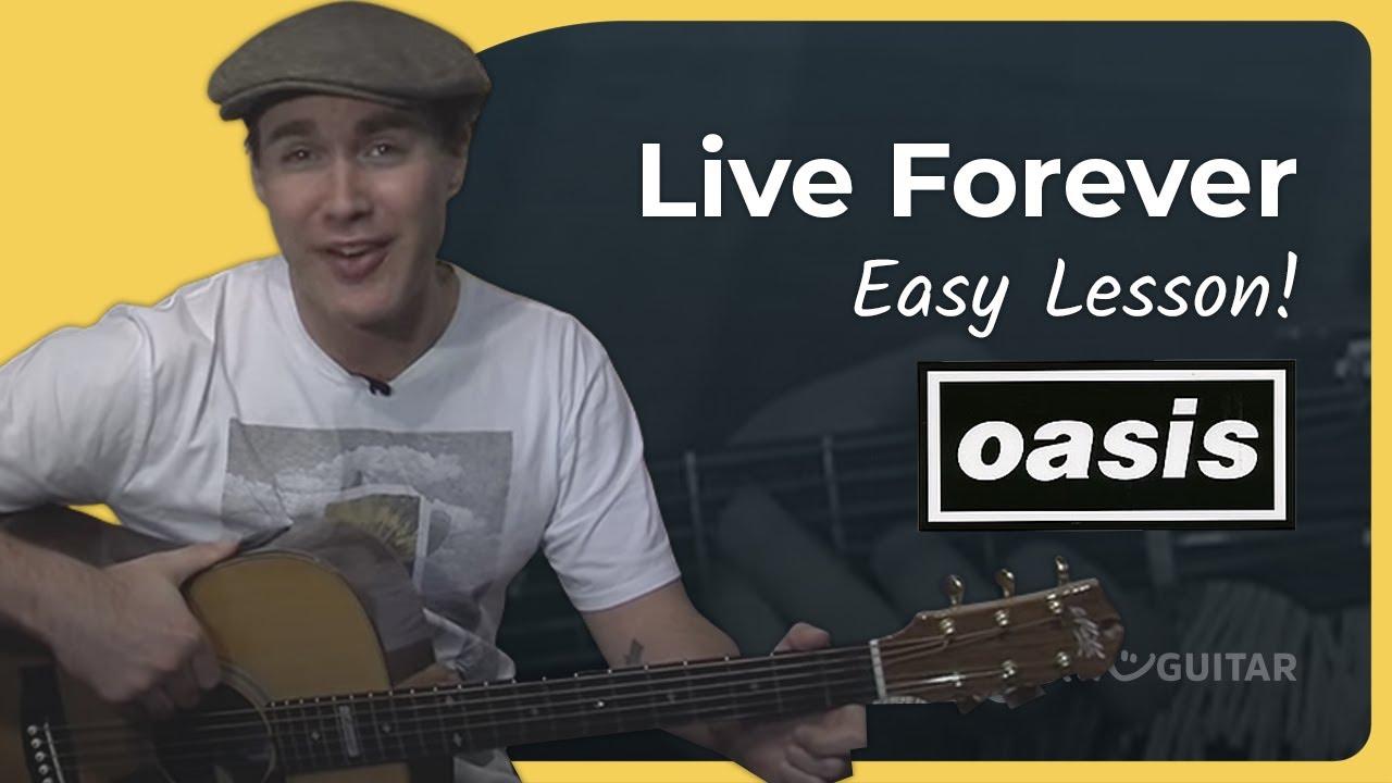 Live Forever Oasis Easy Songs Beginner Guitar Lesson Bs 409 How