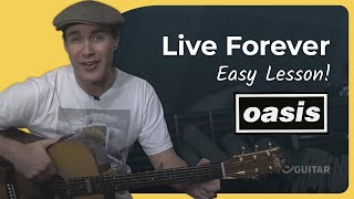 vuclip Live Forever - Oasis (Easy Songs Beginner Guitar Lesson BS-409) How to play