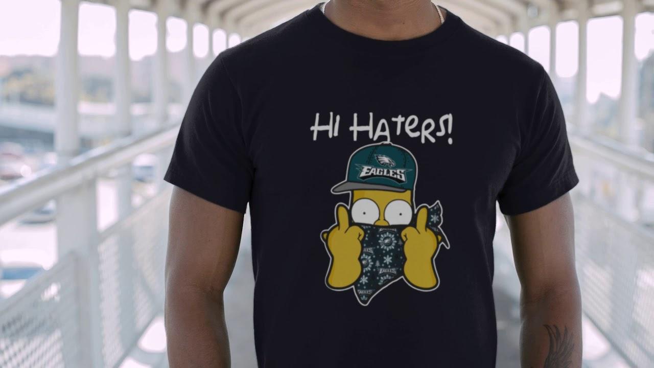 best website 962e0 73973 The Simpsons Christmas Gangster Hi Hater Philadelphia Eagles Shirts