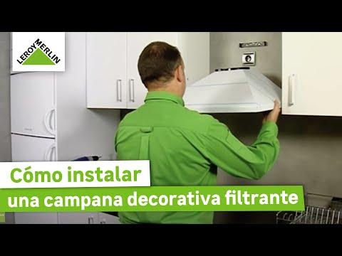 Instalar una campana decorativa filtrante leroy merlin youtube - Como instalar una campana extractora ...