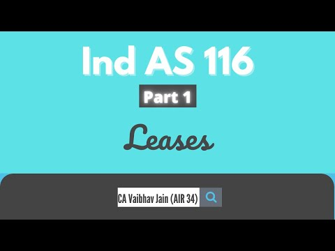 Ind AS 116 Leases (P-1) Ca Final | AIR 34 Vaibhav Jain