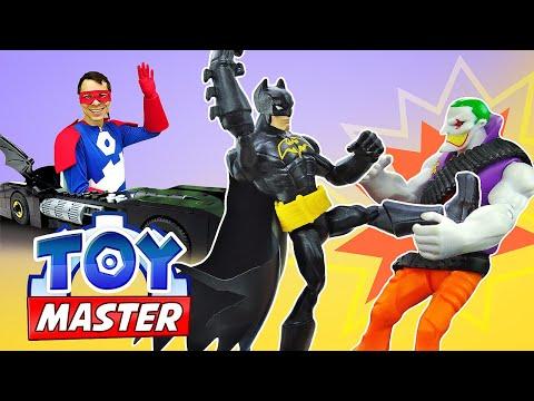 Новая машина для Бэтмена! Как победить Джокера? - Видео игры для мальчиков – Шоу онлайн Той Мастер