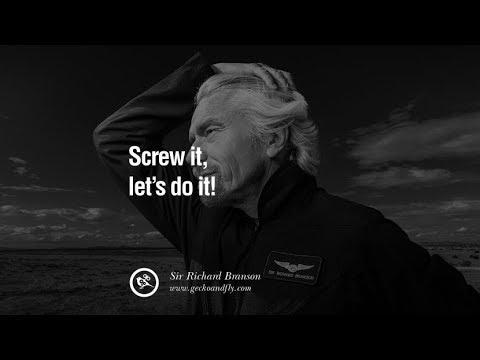 10 Inspiring Sir Richard Branson Quotes on Success and Entrepreneur | Motivational video